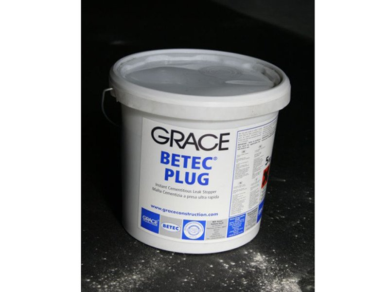 Cement-based waterproofing product Betec® Plug - Grace Construction Products - W.R. Grace Italiana