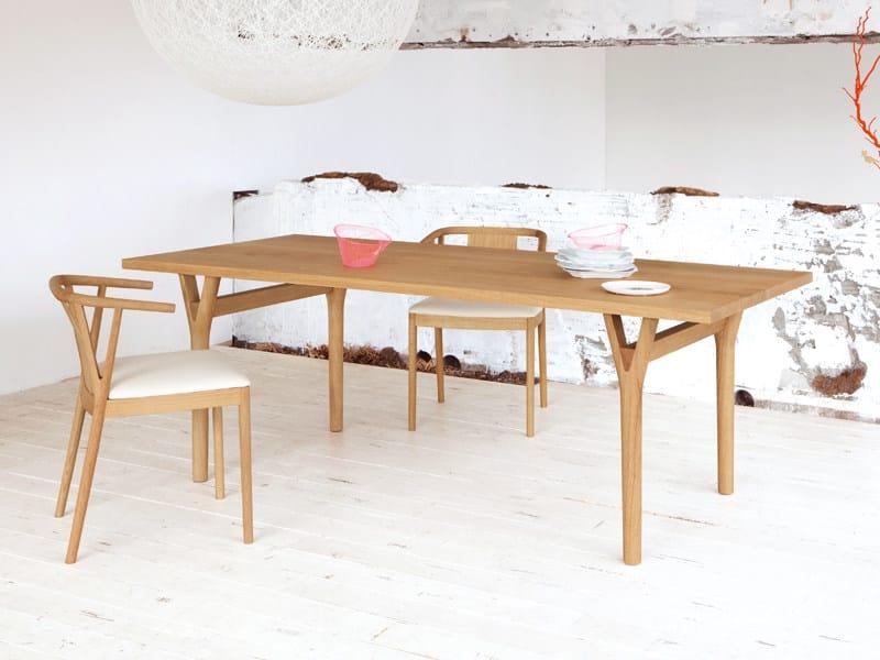 Tavolo rettangolare da pranzo in legno massello branch collezione branch by conde house europe - Tavolo in legno massello prezzi ...