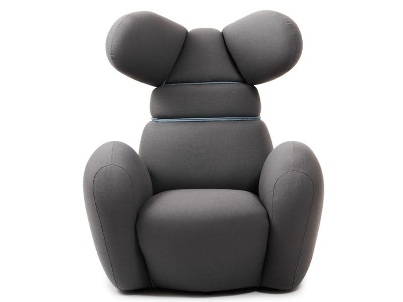 Armchair with armrests with headrest BUNNY - Normann Copenhagen