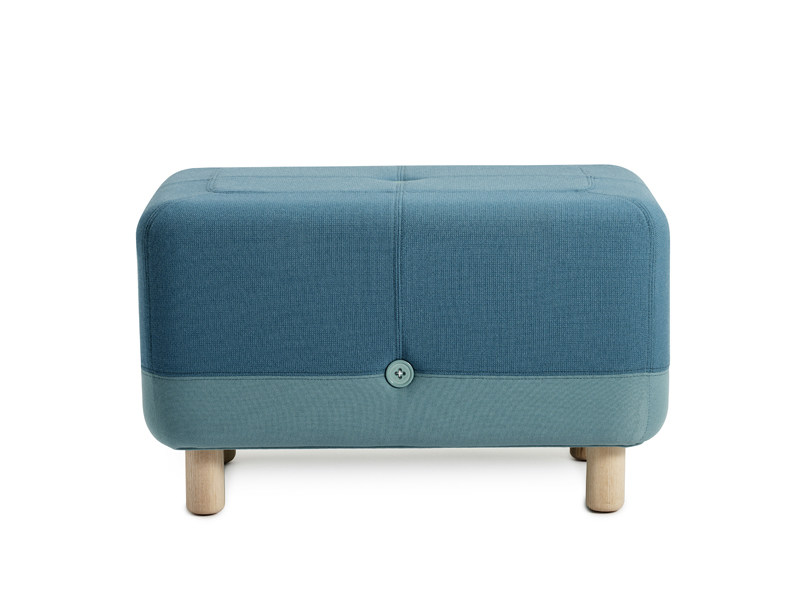 Upholstered fabric pouf SUMO by Normann Copenhagen