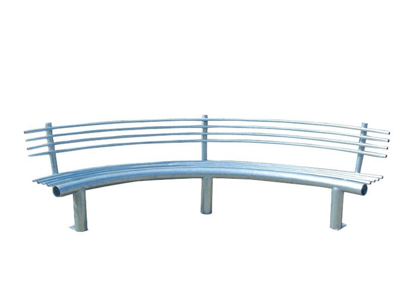 Curved metal Bench with back CURVA - Lazzari