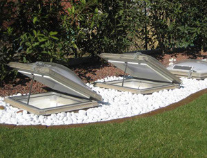 Opening device for rooflight and smoke and heat vent ECOGY® - CAODURO