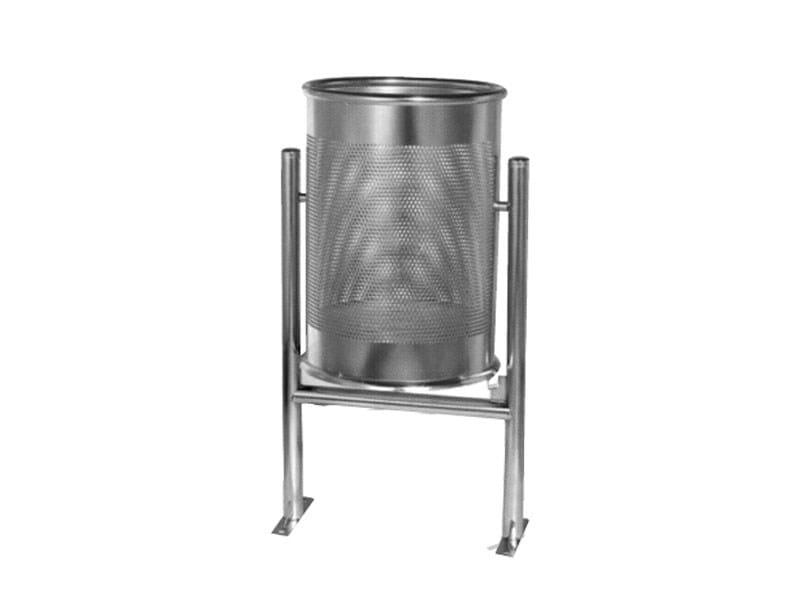 Outdoor stainless steel waste bin BARCELLONA | Waste bin - Lazzari