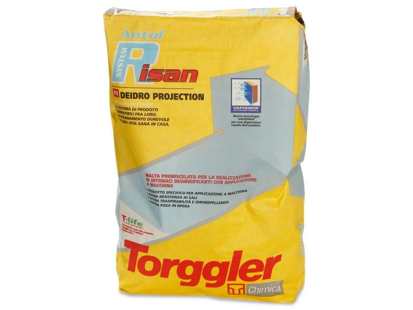 Dehumidifying plaster ANTOL RISAN SYSTEM DEIDRO PROJECTION - Torggler Chimica
