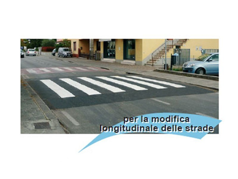 Traffic divider barrier, speed hump SG128 by Lazzari