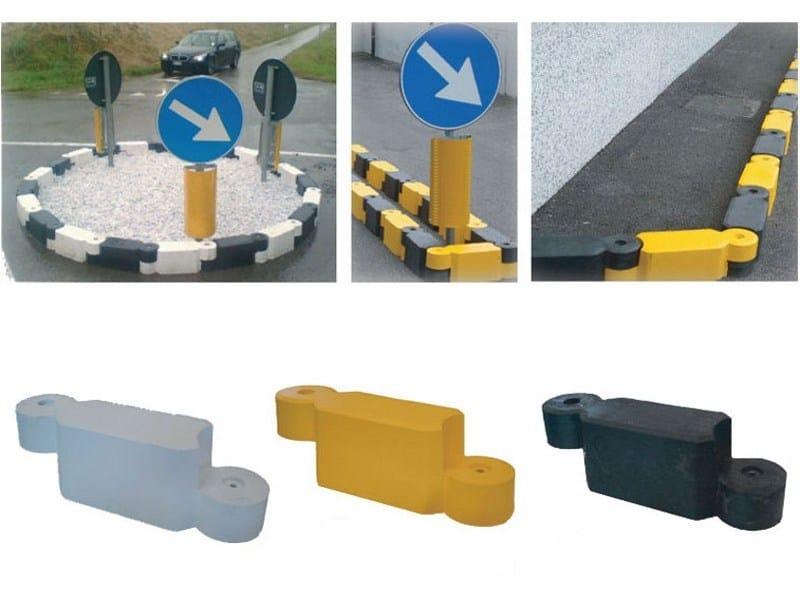 Traffic divider barrier, speed hump / Wheel stop parking kerb Wheel stop parking kerb by Lazzari