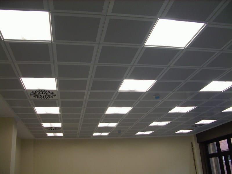 Acoustic mineral fibre ceiling tiles METAL MODULAR SOUND - ATENA