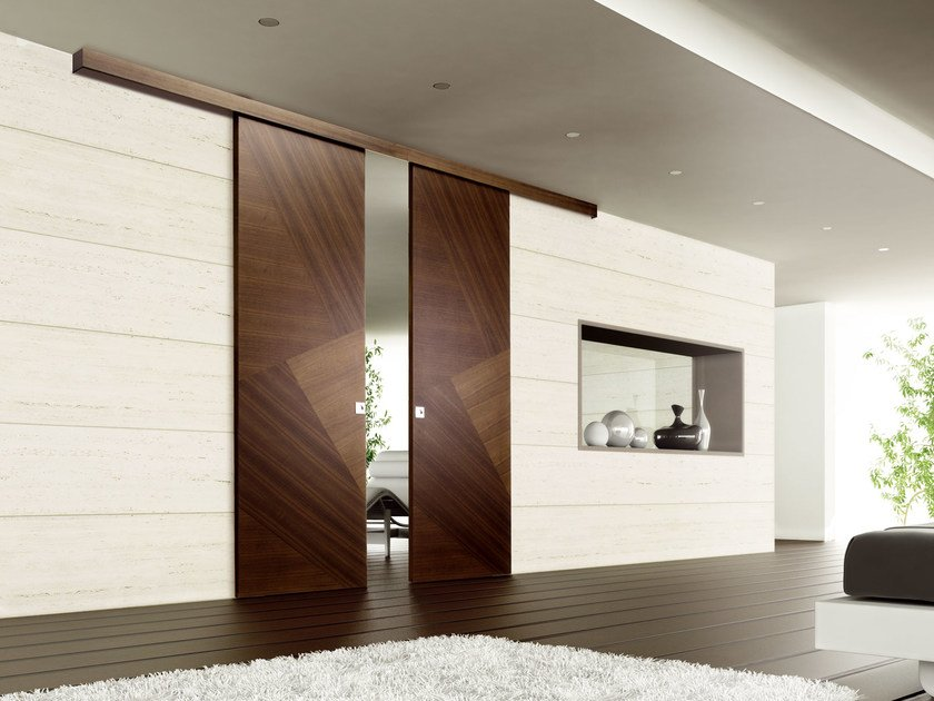 Wooden sliding door RIO CANALETTO | Sliding door - Ghizzi & Benatti