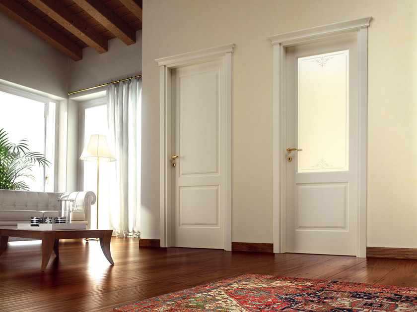 Hinged lacquered door DIVINA by Ghizzi & Benatti