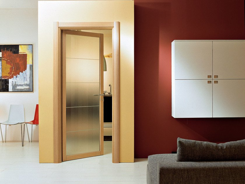 Hinged glass door SPAZIO | Hinged door by Ghizzi & Benatti
