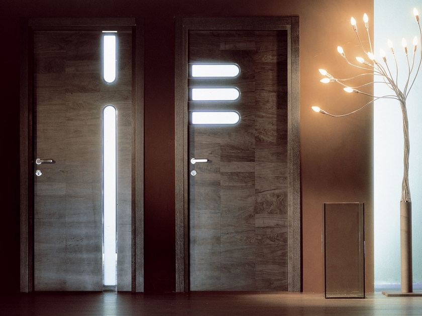 Hinged wooden door TRACK by Ghizzi & Benatti