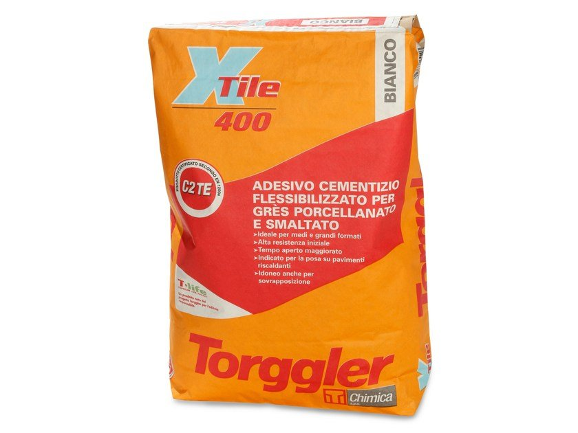 Cement adhesive for flooring X-TILE 400 - Torggler Chimica