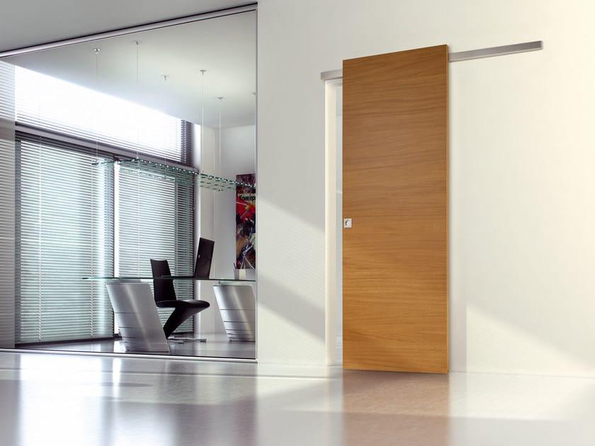 Wooden sliding door STRATO | Sliding door - Ghizzi & Benatti