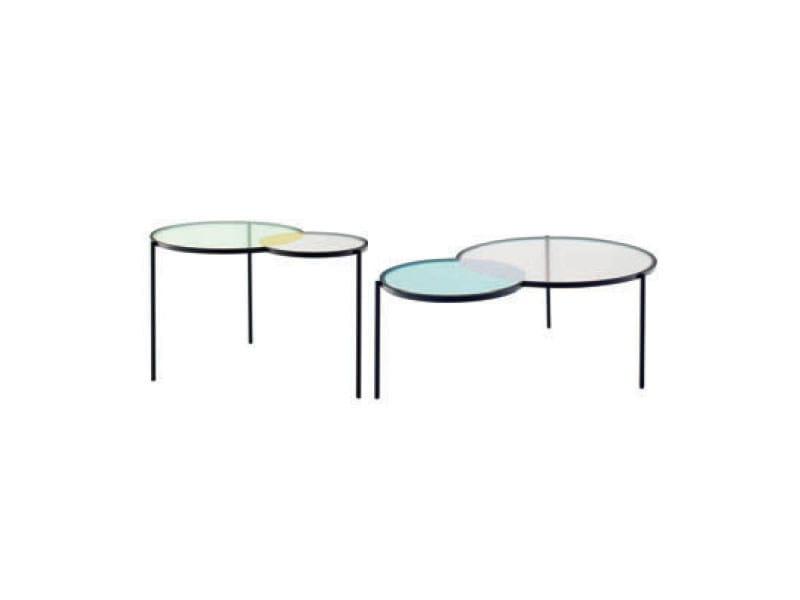 Glass coffee table HUES - ROSET ITALIA
