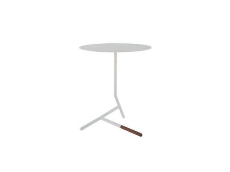 Low round steel coffee table LOVEY - ROSET ITALIA