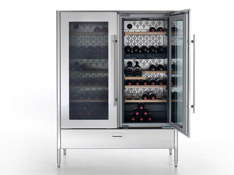 Upright wine cooler with glass door LIBERI IN CUCINA | Upright wine cooler - ALPES-INOX