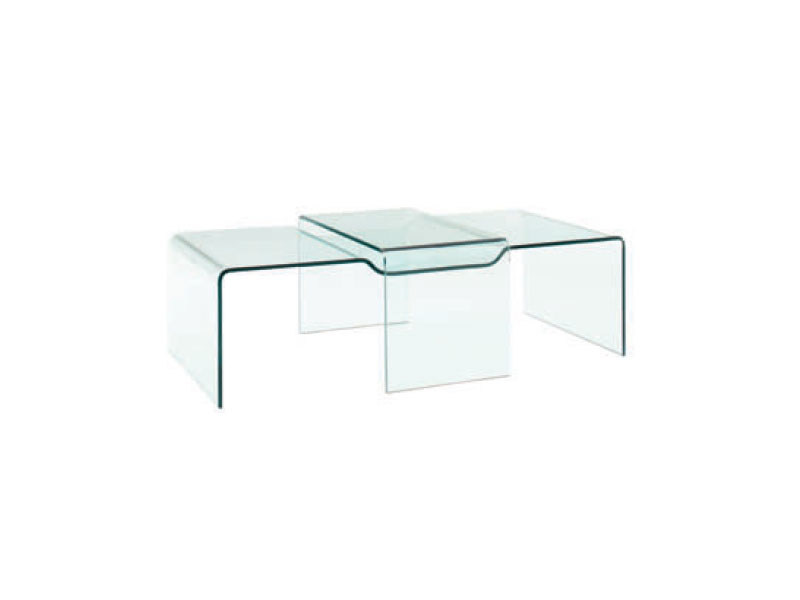 table basse en verre brooklyn by roset italia design gino carollo. Black Bedroom Furniture Sets. Home Design Ideas