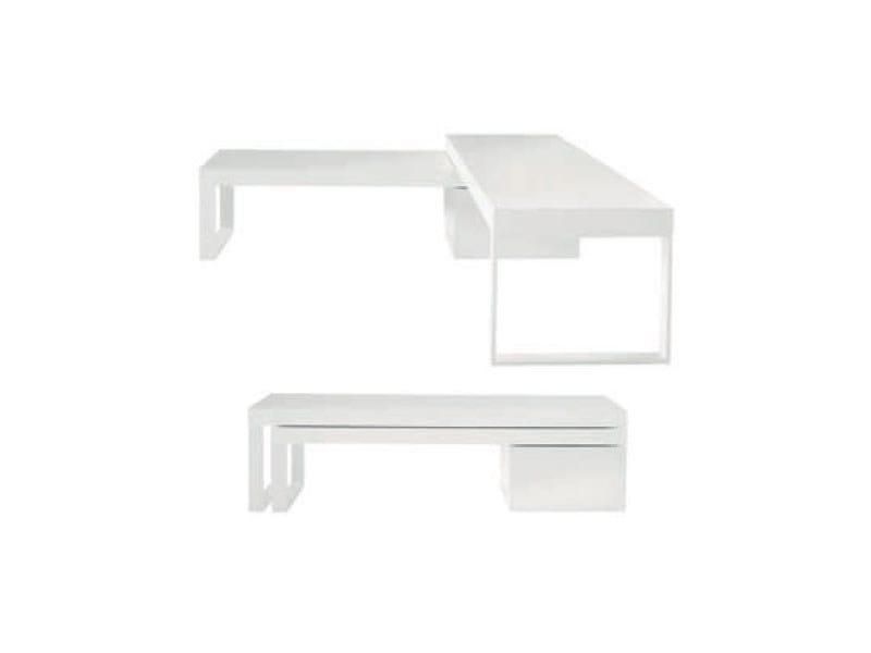 Swivel lacquered plywood coffee table COMPAS - ROSET ITALIA