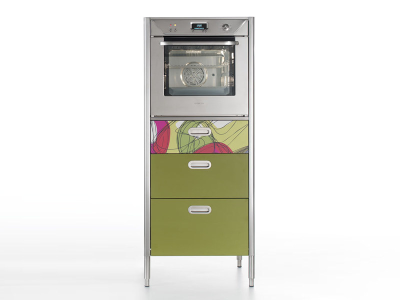 Kitchen freestanding unit with oven LIBERI IN CUCINA | Kitchen unit with oven - ALPES-INOX