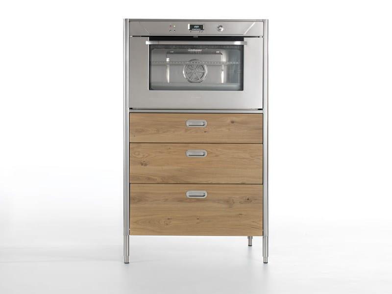 Colonna forno con cassetti liberi in cucina modulo - Cucina freestanding ...