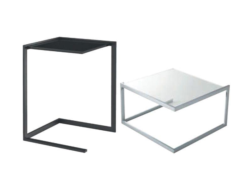 Square glass coffee table DIAMANT - ROSET ITALIA