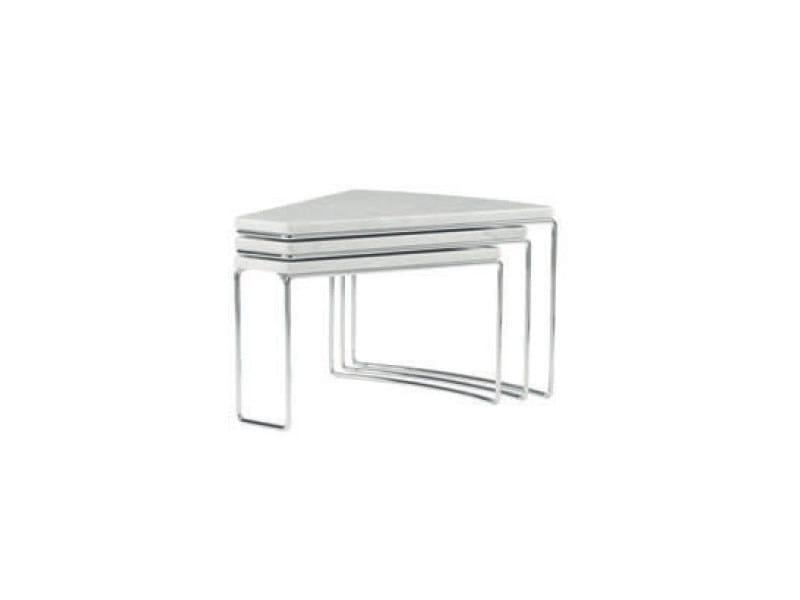 Swivel marble coffee table DOC - ROSET ITALIA