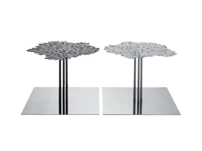 Low steel coffee table LES FORETS by Ligne Roset
