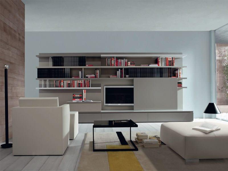 Sectional custom storage wall MIXTE | Storage wall - ROSET ITALIA