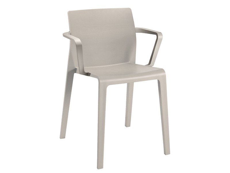 Stackable polypropylene chair with armrests JUNO | Chair with armrests - Arper