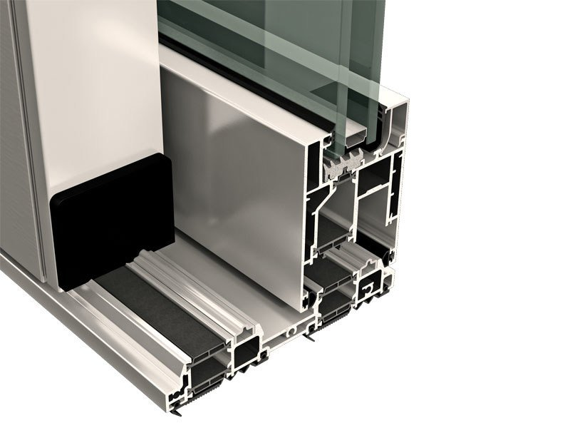 Aluminium and wood thermal break window TOP SLIDE 160 - ALsistem