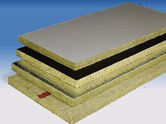 Rock wool Thermal insulation panel / Sound insulation and sound absorbing panel in mineral fibre PAROC Slab - PAROC Pro Slab - LINK industries