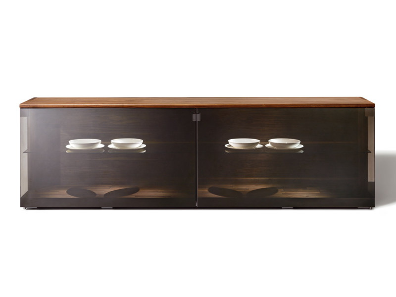 Glass sideboard with doors NOX | Sideboard by TEAM 7