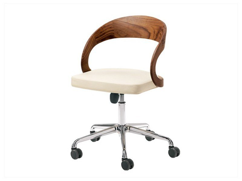 Swivel chair with 5-spoke base with casters GIRADO | Chair with 5-spoke base by TEAM 7