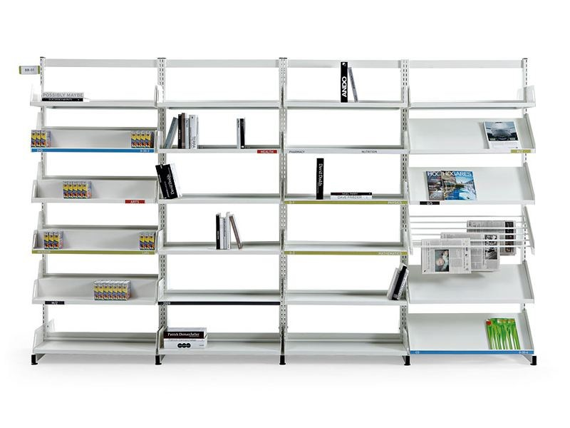 Modular steel office shelving LEVEL - ACTIU