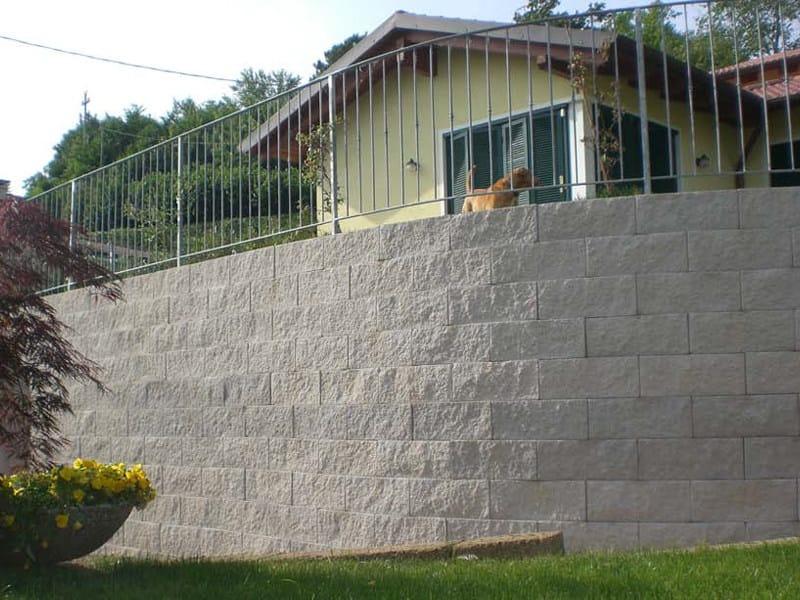 muro in terra rinforzata con facciata in blocchi di cls. Black Bedroom Furniture Sets. Home Design Ideas