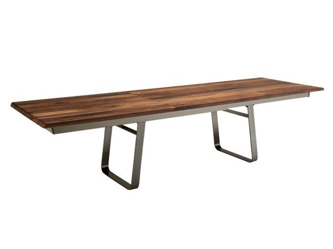 Extending rectangular solid wood table NOX | Extending table - TEAM 7 Natürlich Wohnen