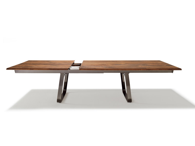 tavolo allungabile rettangolare in legno massello nox | tavolo ... - Tavolo Allungabile Legno Massello