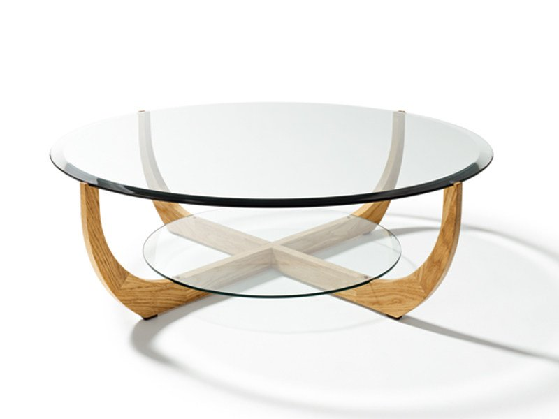 Low round coffee table for living room JUWEL | Round coffee table - TEAM 7 Natürlich Wohnen
