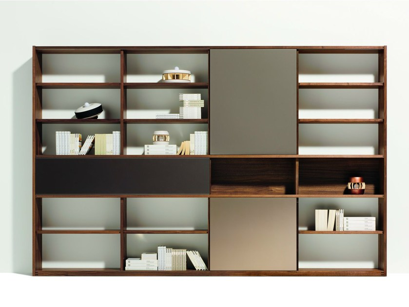 Open freestanding wooden bookcase CUBUS   Bookcase by TEAM 7