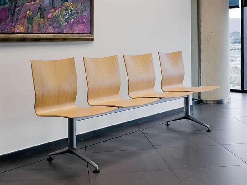 Steel and wood beam seating IKARA | Beam seating - ACTIU