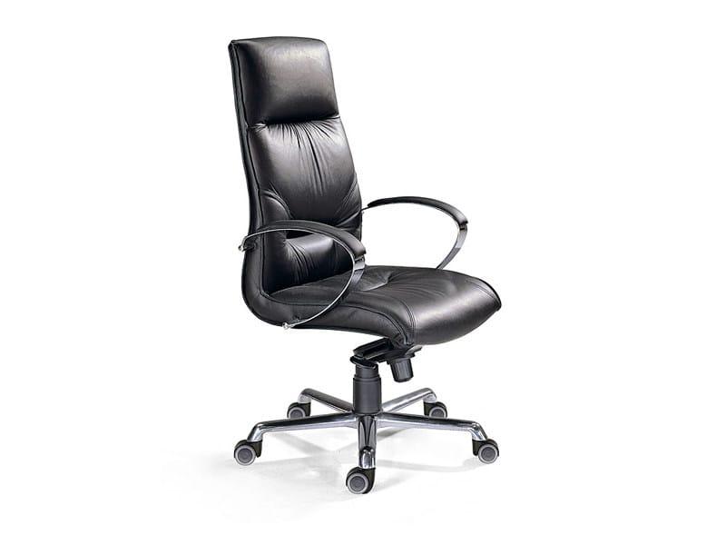 Poltrona ufficio direzionale con ruote collezione manager for Produttori sedie per ufficio