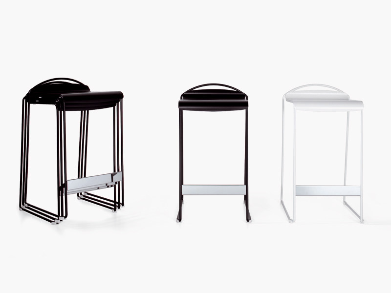 Sled base stackable aluminium stool CAMILLA | Stool - YDF