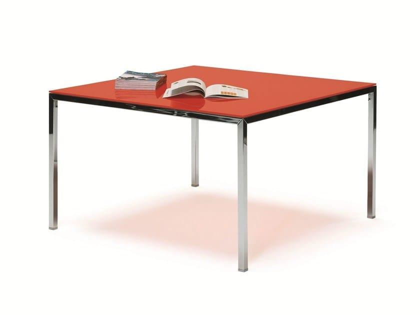Lacquered square table ERNESTO ICE | Square table - YDF