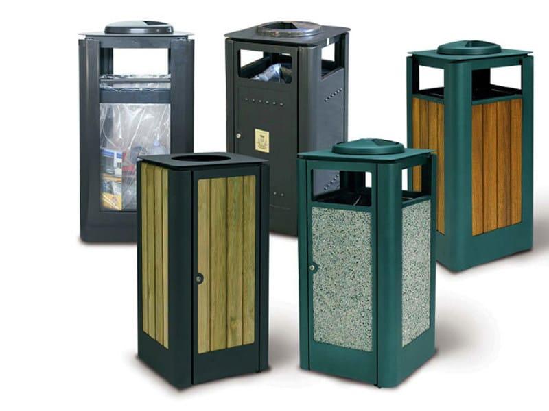 Cubo de basura para exterior de plexigl s con cenicero for Calzolari arredo urbano