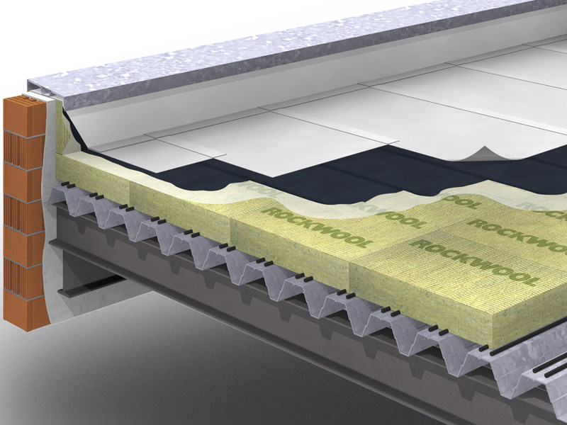 Thermal insulation panel / Sound insulation and sound absorbing panel in mineral fibre Dachrock - ROCKWOOL ITALIA