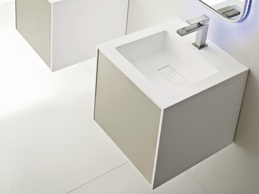 Square wall-mounted washbasin GIANO | Square washbasin - Rexa Design