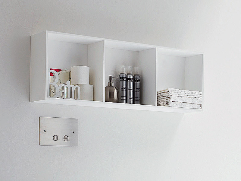 Open Korakril™ wall cabinet Suspended bathroom cabinet by Rexa Design