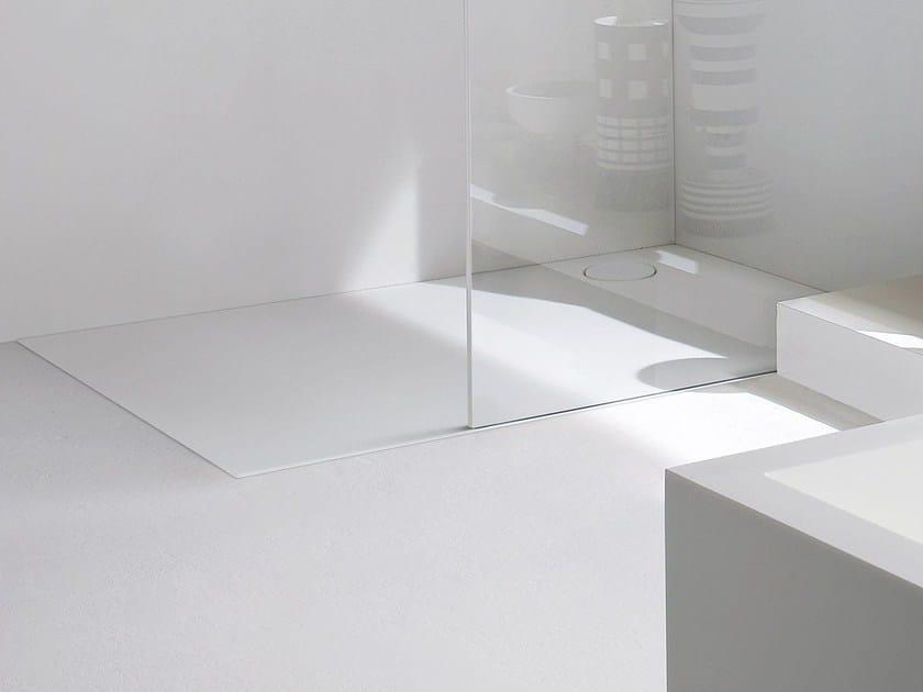 Piatto doccia rettangolare in korakril piatto doccia filo pavimento collezione unico by rexa design - Piatto doccia filo pavimento piastrellabile ...