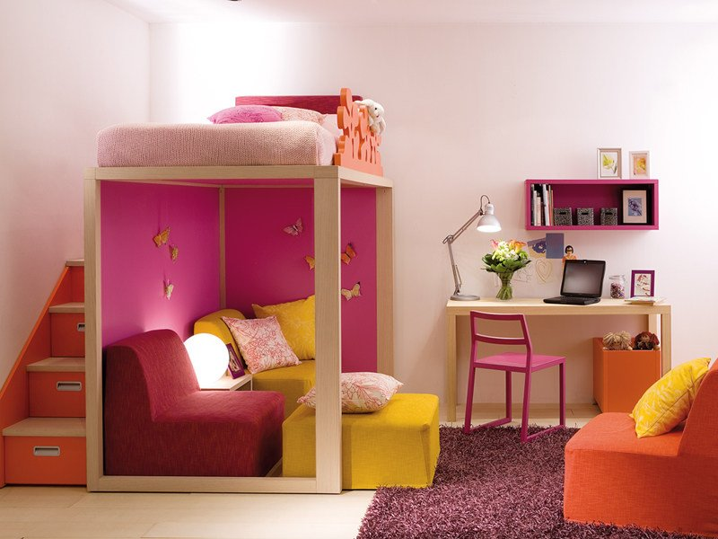 Solid wood bunk bed 7070 | Bunk bed - dearkids