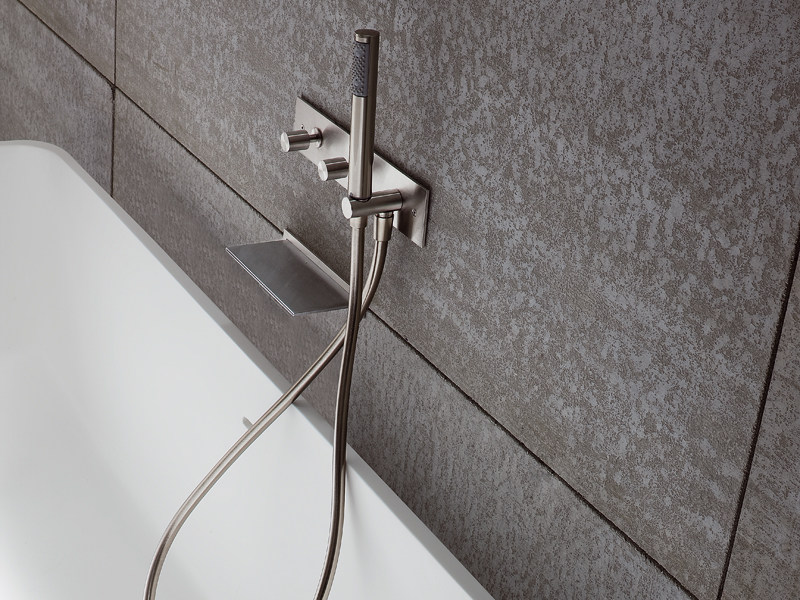 Wall-mounted bathtub set with hand shower BREZZA | Wall-mounted bathtub set - Rexa Design